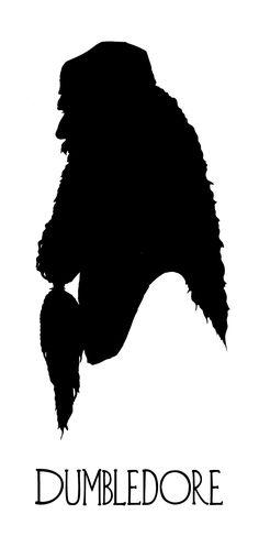 Dumbledore silhouette