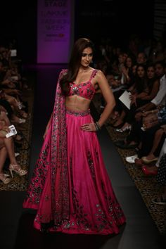 hot pink Indian wedding outfits Arpita Mehta2014 Click to see more from the collection Indian bridal lehengas #shaadibazaar
