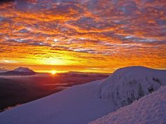 Good Morning Sunshine.  Sunrise on Cotopaxi