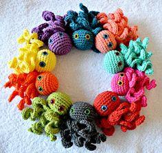 Tiny octopus van RoodWitBlauw op Etsy