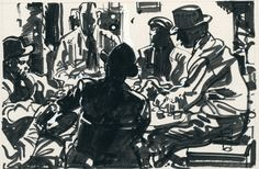 These unpublished student sketches by Robert Fawcett show that, even as a teenager, he was a precocious talent: