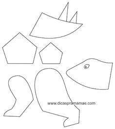 Dinossauros feitos com bexigas e papel - Com moldes! | Pra Gente Miúda