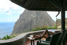 When your room is missing a wall, it definitely qualifies as Glamping On my recent trip to St. Lucia, I stayed at two different properties, both in the Soufriere area. Ladera Resort St Lucia, Glamping, Waiting, Bar, Outdoor Decor, Life, Go Glamping