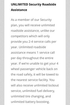 Roadside Assistance Membership Plan Also Include Hotel Car