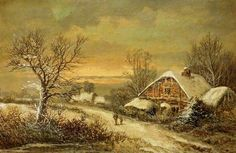 Near Horsham, West Sussex by W. Stone    Date painted: 1872