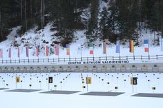 The Biathlon centre in Valdidentro has 30 electronic shooting lines and every year it hosts national competitions. Winter Season, Centre, Competition, Environment, Photo Wall, Racing, Seasons, Activities, Frame