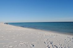 Navarre Beach, Florida. Perfect white sandy beach.