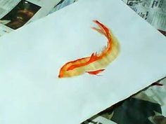 quick example of painting gold koi using food colouring