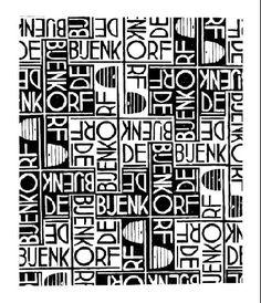 Design for Wrapping-paper: De Bijenkorf - M.C. Escher, 1933