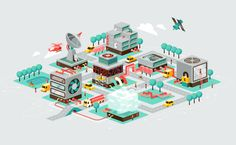 Isometric worlds on Behance