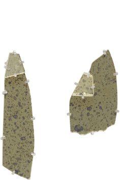 Maison Margiela - Boucles d'oreilles dorées et argentées Mirror