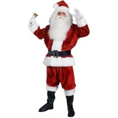 Traditional Imperial Santa Suit. See more great #Santa #suits, Santa #costumes and #Christmas costumes at: http://thecostumecabin.com/santa-costumes $149.99