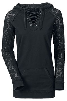 Stylish Lace Splicing Lace-Up Long Sleeve Hoodie For Women