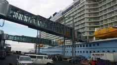 Quantum of the Seas docked at Cape Liberty cruise terminal.