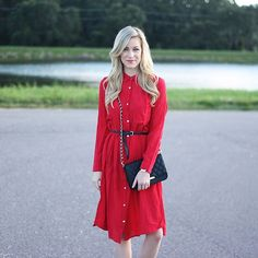 Wearing this @mango dress on adaydreamlove.com! Loving red this season! #ontheblog #fall