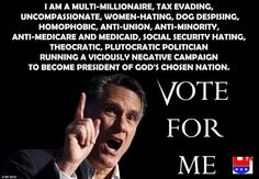 :( stupid mitt romney. People- choose to go FORWARD this year!