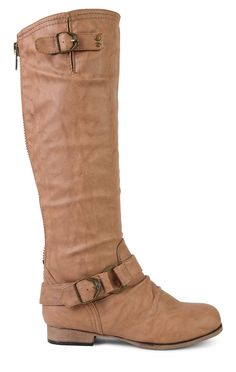 Deb Shops over the knee flat boot with buckle at knee and ankle $46.50