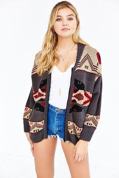 OBEY Adri Zip-Front Sweater