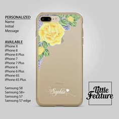 Items similar to Phonecase personalized floral clear caseiPhone 7 plus clear caseiPhone 6 case,Samsung phone case,transparent,i phone x, on Etsy Phone Cases Samsung Galaxy, Iphone 8 Plus, Iphone 7, Iphone Cases, Personalized Phone Cases, S7 Edge, Galaxy S8, 6s Plus