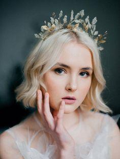 Greek Goddess Leaf Crown Wedding FineArt Leaf Headband