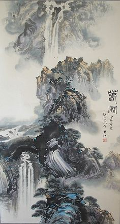 Chinese painting scroll,