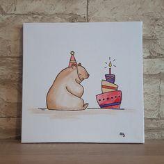 Kinderzimmerbild Bär