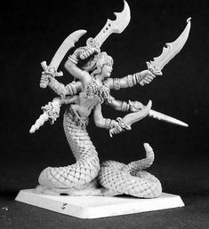 Reaper Miniatures, Fantasy Miniatures, Greek Mythological Creatures, Dnd Mini, Fantasy Figures, Sideshow Collectibles, Character Design, Painting, Minis