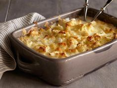Cauliflower-Goat Cheese Gratin - if you try this recipe, watch the video.  The written recipe won't turn out right!