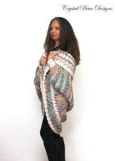 (4) Name: 'Crocheting : Luxe Oversized Chunky Shrug