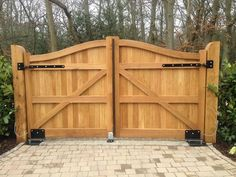 driveway gate iron wood post fence - - Yahoo Image Search Results