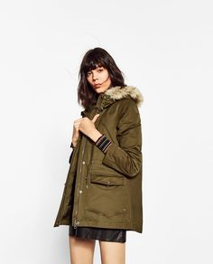 Image 2 of WATER REPELLENT DETACHABLE PARKA from Zara