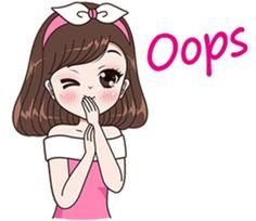 Boobib Beautiful Girl – LINE stickers Cute Love Cartoons, Cute Cartoon Girl, Cute Love Stories, Cute Girl Drawing, Cute Cat Gif, Beautiful Anime Girl, Line Sticker, Anime Art Girl, Illustration Girl