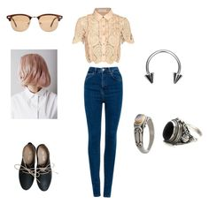 Untitled #159 by stylemaven-515 on Polyvore featuring self-portrait, Pull&Bear, Miz Mooz, NOVICA and Ray-Ban