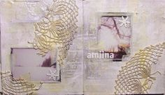 Art Journaling love the beach feel and the monochromatic look of this
