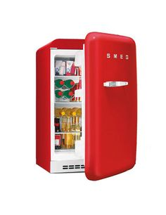 Selling this Smeg Happy Bar Friday Bar Fridge Mini Fridge Bar, Bar Refrigerator, Smeg Kitchen, Forever Red, Red Photography, Bar Games, Red Cottage, Recherche Google, Homes