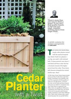 #1635 Cedar Planter Plans - Outdoor Plans