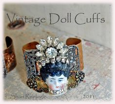 Plays with Paper - vintage doll cuff