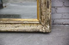 19th C. French Distressed Mirror   From a unique collection of antique and modern wall mirrors