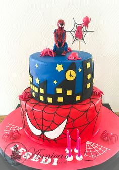 Spiderman Cake by Annica's