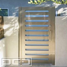 LA Modern Courtyard Gate in Metal Glass by Dynamic Garage Door Luxury entry gates made per your specifications Call 855 3433667 by DynamicGarageDoors Cheap Garage Doors, Diy Garage Door, Garage Door Design, Steel Gate Design, Front Gate Design, Main Gate Design, Backyard Gates, Garden Gates, Side Gates