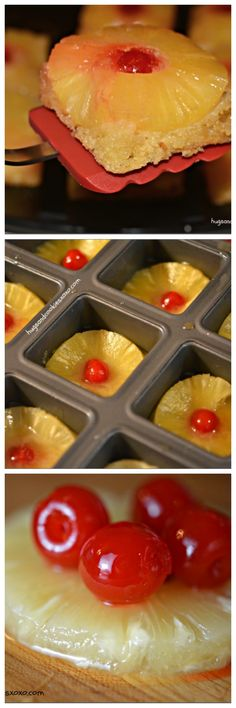 pineapple upside down cakes minis