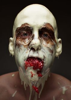 Chef and photographer Robbie Postma and Robert Harrison have teamed up to re-think food photography Bizarre Photos, Strange Photos, Creepy Photos, Menu, Behance, Think Food, Face Photo, Le Chef, Photo Story