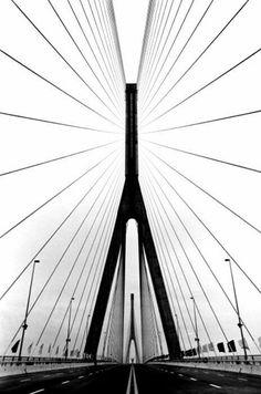 "adanvc: "" Yangpu Bridge, Shangai, China, by Marc Riboud "" Photo D Art, Foto Art, Photo B, Marc Riboud, Urban Photography, Abstract Photography, Street Photography, Interior Photography, Black White Photos"