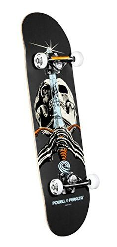 Powell-Peralta Black Light Skull and Sword Complete Skateboard