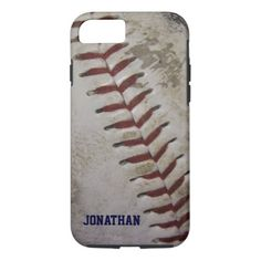 Grungy Dirty Baseball Personalized iPhone 7 case