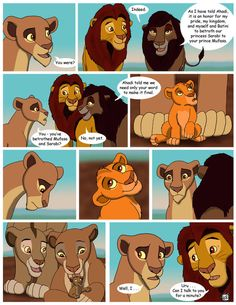 Bet you guys didn't know the conversation Uru had with her mom was gonna go in THIS direction! Uru, can you say ANY nice words to anyone besides Mufasa and Rehema? Uh-hem. More Mufasa cuteness. Of ...