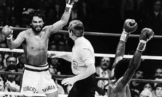 Roberto Duran Gives Up In The 8th Round Of A Title Fight Against Sugar Ray Leonard  1980