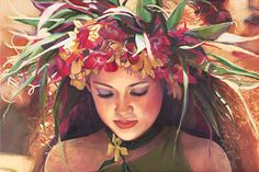 """Orchid Haku"" by Suzy Papanik. Tahitian dance competition dancer. #Heiva"