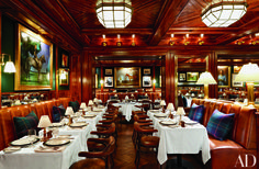 Most Stylish Restaurants in New York signature Ralph Lauren style at the Polo Bar
