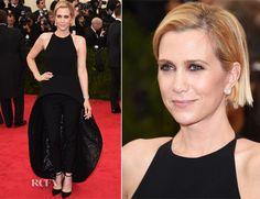 Kristina Wiig looking quirky stunning custom Balenciaga lbd over black trousers, love the Balenciaga shoes.